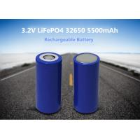 Quality 32650 5500mah lithium iron phosphate cylindrical cell 3.2V rechargeable LiFePO4 battery for electrical car for sale