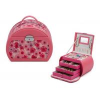 Wear resistant flocked cloth lining colorful girls jewellery box , storage boxes for jewellery