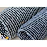 """Wholesale 6"""" Grey PVC Coated Fiberglass Fabric Flexible Air Duct For Fume Extraction from china suppliers"""
