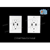 Wholesale 4.2A Smart High Speed USB Charger Outlet , 15A Tamper-Resistant outlet from china suppliers