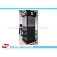 Wholesale Four - Sides Black MDF Display Stand With Digital Printing LOGO / Stick Graphics from china suppliers