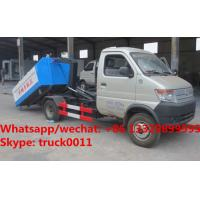 Wholesale Factory sale cheaper price Chang'an mini hook lift garbage truck, HOT SALE good price gasoline wastes collecting vehicle from china suppliers