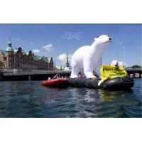 Wholesale 5m White Inflatable Polar Bear Outdoor Christmas Decoration Oxford Cloth from china suppliers