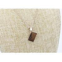 China Rose Gold Plated 304 Stainless Steel Pendant Necklace Square Shape For Gifts on sale