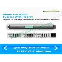 Wholesale 12 Frequency Slot Card IP Digital TV Modulator / DVB T COFDM Modulator Terrestrial Wireless System from china suppliers