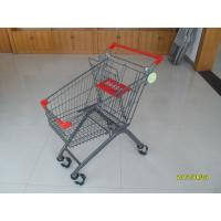 Wholesale 80L Colorful Powder Coating 4 Wheel Shopping Trolley with anti UV plastic parts from china suppliers