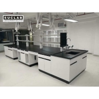 China Floor Mounted Steel Made Lab Tables Work Benches With Computer Space on sale
