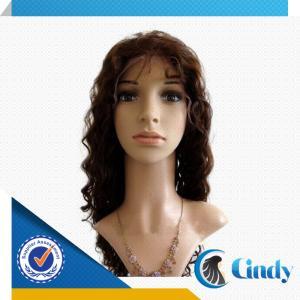 China hot beauty black women deep wave short 100% virgin brazilian hair full lace wig on sale