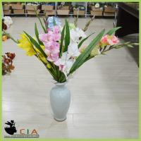 China Bulk Order Artificial Silk Flower Arrangement Bouquet Silk Gladioli with Bushes on Sale on sale