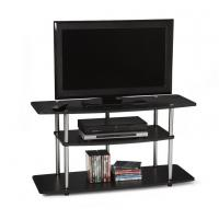 Wholesale Home Media Wide 3 Tier Contemporary TV Stand , Contemporary Wood TV Storage Cabinet from china suppliers