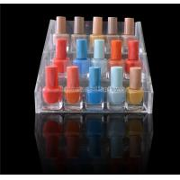 Wholesale 3 - Step Cosmetic Retail Displays Transparent Acrylic Nail Polish Display Rack from china suppliers