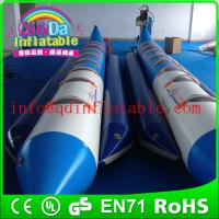 Wholesale Guangzhou QinDa inflatable boat water game banana boat for saleair boat for fun from china suppliers
