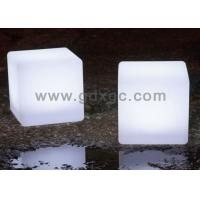 Wholesale LED lighting ottoman cube / Lighting  led Furniture / Unbreakable Glowing Table from china suppliers