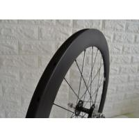 Wholesale 700c Aero Carbon Track Wheelset 23mm Width Matte / Glossy Surface Finish from china suppliers