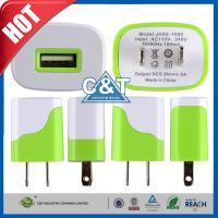 Wholesale Iphone 6 Plus Universal USB Power Adapter , Us Plug Usb Wall Travel Charger from china suppliers