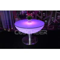 Wholesale Stainless Steel Base Illuminated Furniture Led Bar Table Modern from china suppliers
