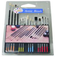 Wholesale Slim Long Handled Paint Brushes , Personalised Paint Brush Set T With Plastic Palette from china suppliers