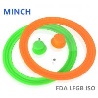 Wholesale Best Silicone Glass Lid/Glass Lid with Silicone Rim FDA/LFGB 14-32cm-MINCH SILICONE from china suppliers