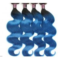 Wholesale Healthy Ombre Soft Blue Grade 8A Virgin Hair Extentions For Goddess from china suppliers