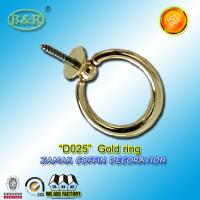 Wholesale zamak ring with screw for coffin decoration D025 gold color metal screw dia.4cm from china suppliers