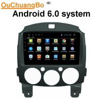 Wholesale Ouchuangbo car multi media 1024*600 video stereo android 6.0 for Mazda 2 with 3g SWC wifi bluetooth gps navi from china suppliers