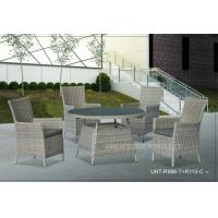 Wholesale 4 Piece Outdoor Rattan Chairs With Round Table , Metal Garden Furniture Sets from china suppliers