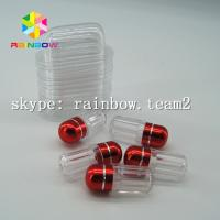 Wholesale Clear capsule plastic medicine bottle , sex pill container with aluminum foil gold cap from china suppliers