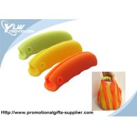 Wholesale Customized Promotional Gifts orange, green, yellow, coffee silicone shopping handle from china suppliers