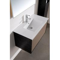 Wholesale Modern 80 cm PVC mirrored Ceramic Countertop bathroom vanity base cabinet with Wash Basin from china suppliers