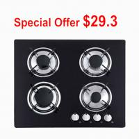 Wholesale Kitchen Four Burner Glass Top Gas Hob , 4 Ring Toughened Glass Gas Stove from china suppliers
