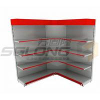 Wholesale Customizable Color Supermarket Display Racks Close / Open Corner Shelf from china suppliers