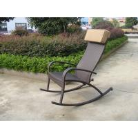 Wholesale Hand-Woven Brown Resin Wicker Rocking Chair For Outdoor Garden from china suppliers