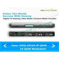 Wholesale Digital QAM DVB - C 16 Channel Modulator With SD / HD RF Cable System from china suppliers