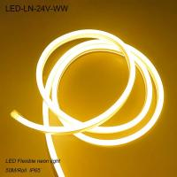 Wholesale IP44 24V Waterproof 3000K flexible LED Neon lights/ LED strip Light for building from china suppliers