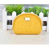 Wholesale cheap hot sale simple colorful ladies felt purses and felt wallet factory from china suppliers