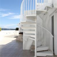 Wholesale The iron shop stainless steel staircase nosing singapore spiral staircase white from china suppliers