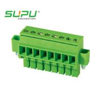Wholesale Female Connector Screw Pluggable Terminal Block , Wire Range 0.2 - 1.5 mm2 from china suppliers