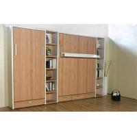 Wholesale Small Room Double Modern Wall Bed with Bookshelf , folding Hidden Wall Bed from china suppliers