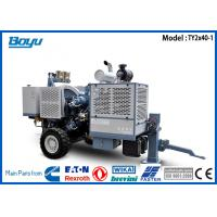 Buy cheap 2 x 40KN Two Bundle Conductors Overhead Line Equipment , Cummins Engine Hydraulic Tensioner from wholesalers