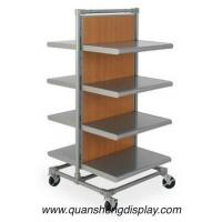 Wholesale garment rack with wooden mdf shelving from china suppliers