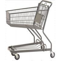 Wholesale 70L Custom Shopping Basket Trolley Powder Coating Wire Basket Cart from china suppliers