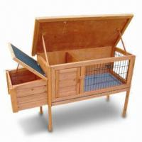 Wholesale Rabbit Hutch for Rabbits, Ferrets and Guinea Pigs, Made of Wood, 42-1/5 x 25-1/5 x 36-1/5-inch Size from china suppliers