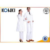 Wholesale Comfortable White Medical Scrubs Uniforms , Medical Lab Coats For Doctor from china suppliers