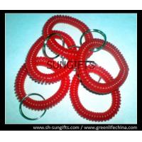 Wholesale Soft wrist coil, red small coils, plastic coiled key chains from china suppliers