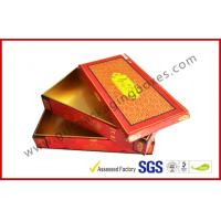 Wholesale Red Matt Customized Hard Board Gift Packaging Boxes with Embossing , Hot Stamping LOGO from china suppliers