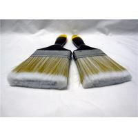Quality Nylon Flat Paint Brush With Lacquered Wooden Handle / Iron Ferrule for sale