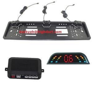 Wholesale CE,FCC 3 Parking Sensors European Car license plate frame parking sensor from china suppliers