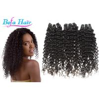 Wholesale Natural Black Tangle Free Mongolian Curly Hair Extensions Grade 7A Virgin Hair from china suppliers