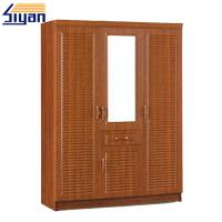 Wholesale Antique Customized Louvered Closet Doors Faced With PVC Film , CARB2 Listed from china suppliers