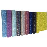 Quality A4 Size Glitter Fabric Sheet For DIY Material,Chunky Glitter Fabric Sheet for sale